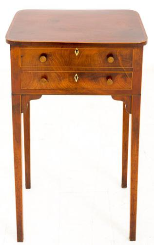 Georgian Mahogany Work Table c.1800 (1 of 1)