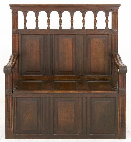 Oak Settle c.1860 (1 of 1)