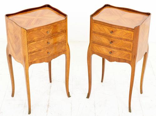Pair of French Kingwood Bedside Cabinets c.1900 (1 of 1)