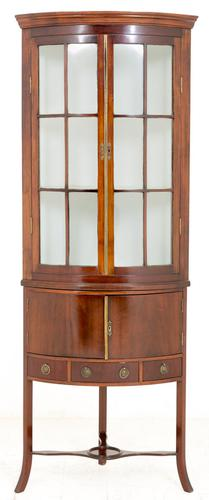 Mahogany Corner Cabinet with Georgian Influences (1 of 1)