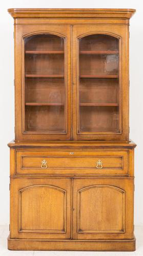 Victorian Blonde Oak Bookcase c.1860 (1 of 8)