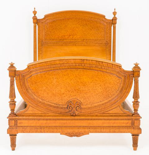 Stunning French Birds Eye Maple Bed c.1860 (1 of 1)