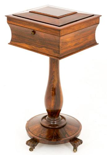 William IV Rosewood Teapoy (1 of 1)