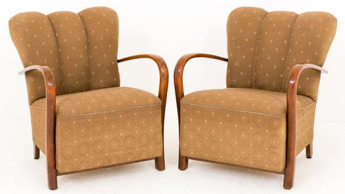 Pair of French Art Deco Club Chairs (1 of 1)