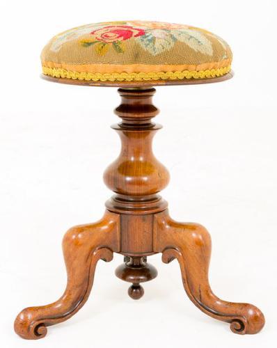 Victorian Mahogany Piano Stool (1 of 1)