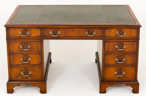 Mahogany Pedestal Desk c.1920 (1 of 1)