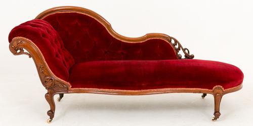 Stunning Mahogany Chaise Longue c.1860 (1 of 1)