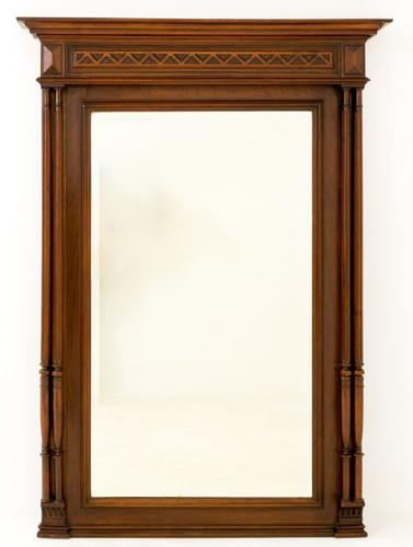 French Oak Wall Mirror c.1880 (1 of 1)