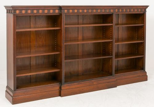 Large Mahogany Open Bookcase c.1860 (1 of 1)