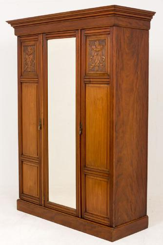 Victorian Walnut Wardrobe (1 of 1)