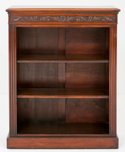 Walnut Victorian Open Bookcase (1 of 1)