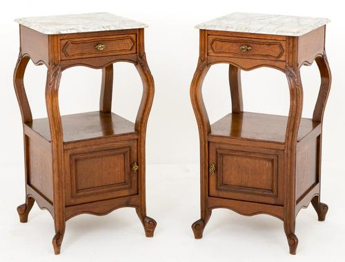 Pair of French Oak Bedside Cabinets c.1880 (1 of 1)