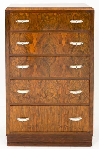 Art Deco Walnut Chest of Drawers (1 of 1)