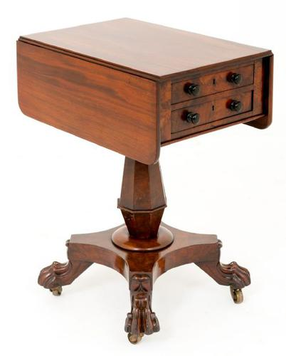 William IV Mahogany Sewing Table (1 of 8)