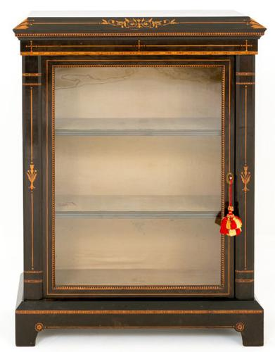 Arts & Crafts Ebonised Pier Cabinet (1 of 8)
