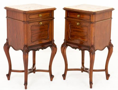 Superb Quality Pair of French Mahogany Bedside Cabinets (1 of 1)