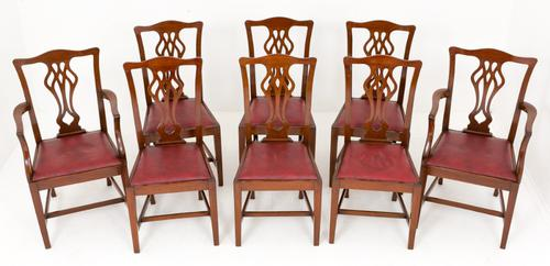 Set of 8 Mahogany Chippendale Style Chairs (1 of 1)