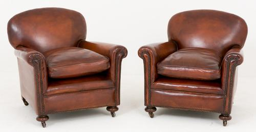 Pair of Art Deco Leather Club Chairs (1 of 1)