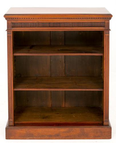 Victorian Walnut Open Bookcase (1 of 1)