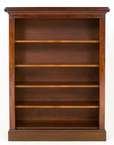 Large Victorian Mahogany Open Bookcase (1 of 7)