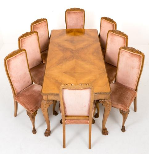 Walnut Queen Anne Style Dining Suite (1 of 1)
