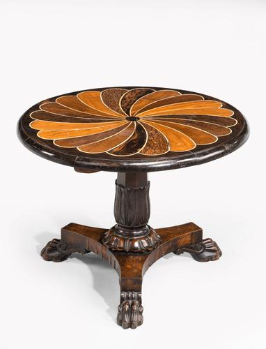 Anglo-Portuguese 19th Century Inlaid Table with Exotic Timbers (1 of 7)