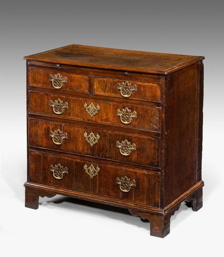 George III Period Oak Chest of Drawers (1 of 6)