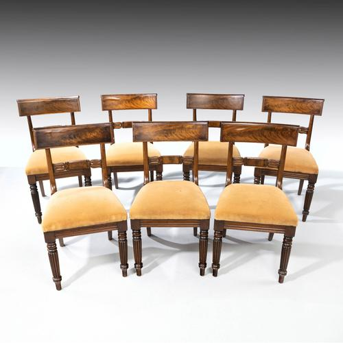 Good Set 6+1 of William IV Mahogany Framed Chairs (1 of 6)