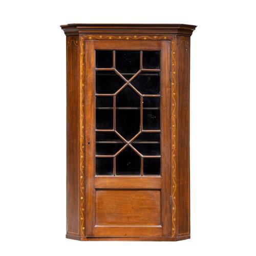 Most Attractive George III Period Mahogany Corner Cupboard (1 of 6)
