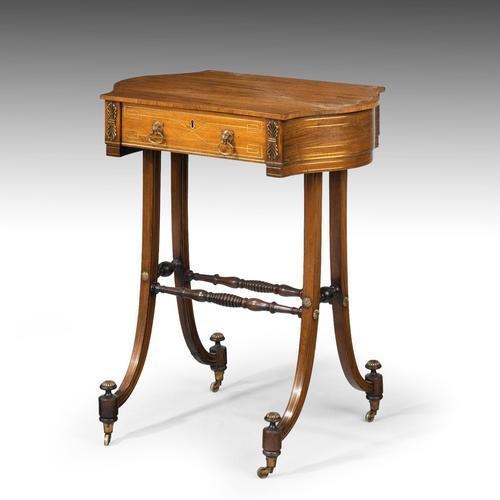 Elegant Regency Period Work Table (1 of 9)