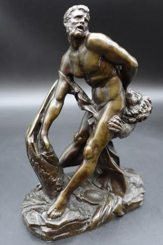 Late 19th Century Bronze of Milo of Croton by Puget (1 of 5)