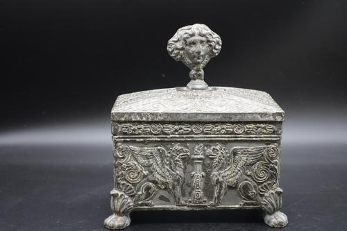 Beautifully Constructed Late 18th Century Rectangular Metal Box (1 of 8)