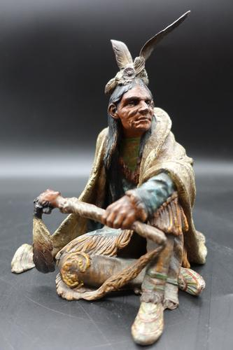 Beautifully Modelled Early 20th Century Bronze of a Medicine Man by Carl Kauba (1 of 6)
