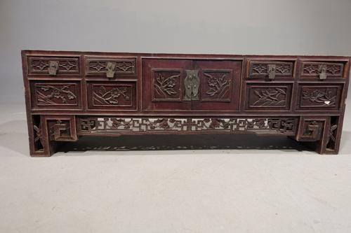 Late 19th Century & Finely Carved Chinese Alter Table (1 of 8)