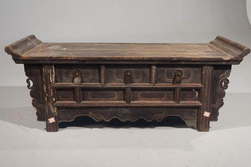 Attractive Late 19th Century Elm Alter Table (1 of 7)