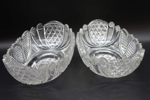 Exceptional Pair of Late 19th Century Shallow Cut Bowls (1 of 5)
