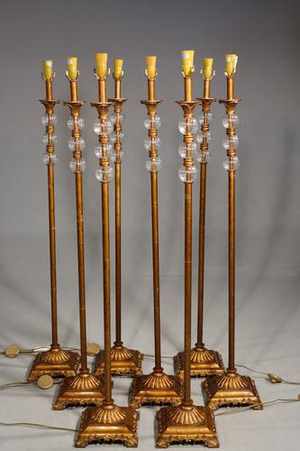 Highly Unusual Set of 8 French Floor Standing Candelabras (1 of 7)