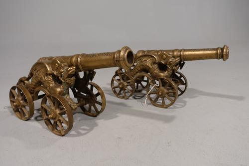 Late 19th Century Pair of Spanish Desk Cannons (1 of 8)
