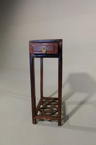 Late 19th Century Lamp Table in Hongmu Wood (1 of 4)