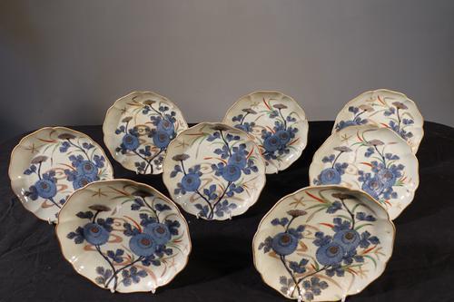 Set of 8 Late 18th Century Japanese Imari Plates (1 of 8)