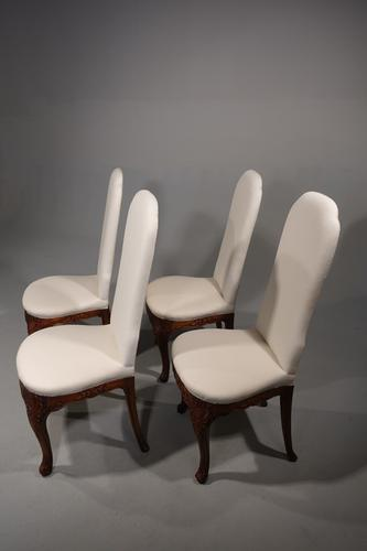 Set of 4 Early 20th Century Mahogany Framed Chairs (1 of 8)