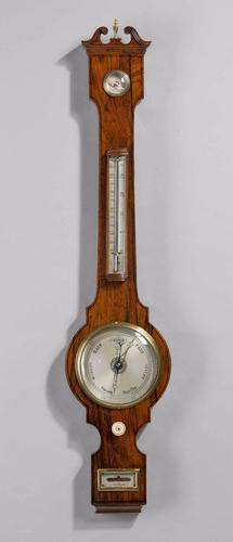 Rosewood 6 Ins Dial Barometer by Robinson C.1830 (1 of 7)