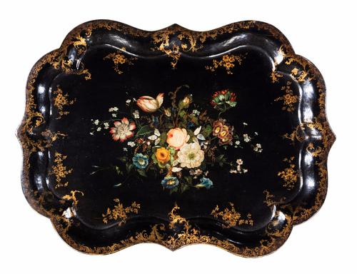 Late 19th Century Papier-mache Tray c.1870 (1 of 1)