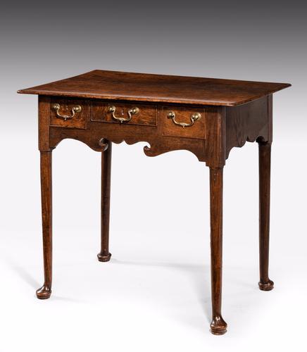 George I Period Oak Lowboy c.1730 (1 of 1)