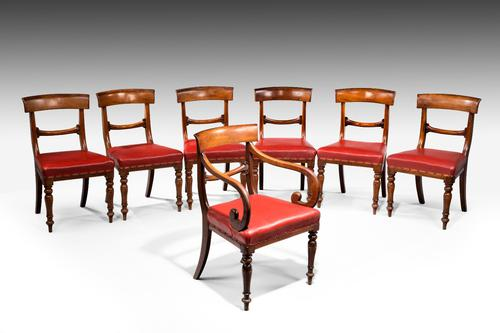 Set of 7 early Victorian Mahogany Dining Chairs (1 of 1)