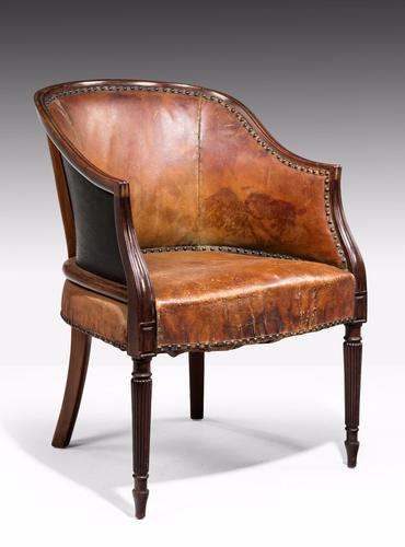 Late 19th Century Mahogany Framed Bergere Chair (1 of 1)