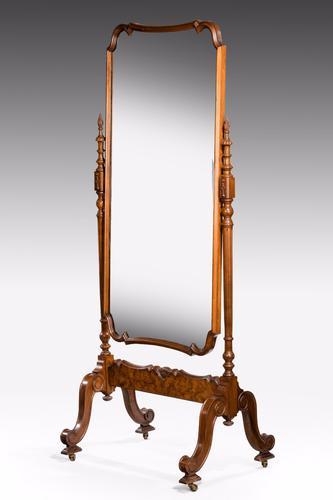 Early 20th Century Mahogany Framed Cheval Mirror (1 of 1)