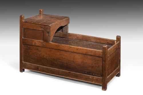 Mid 18th Century Oak Crib (1 of 1)