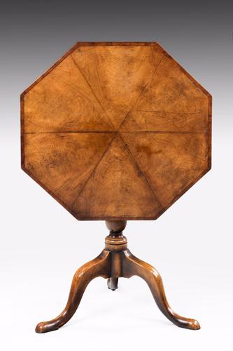 Late 19th Century Octagonal Mahogany Tilt Table (1 of 1)