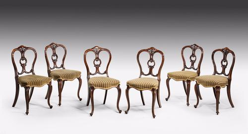 Set of 6 Mid Victorian Rosewood Balloon Back Chairs (1 of 1)